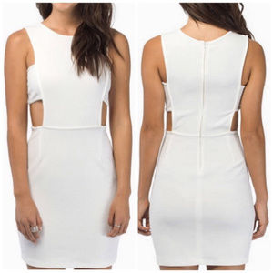 [Tobi] Ivory Fitted Paneled Bodycon Dress